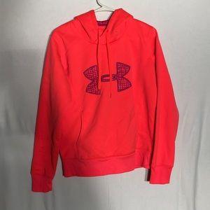 Under Armor hot pink hoodie- size medium